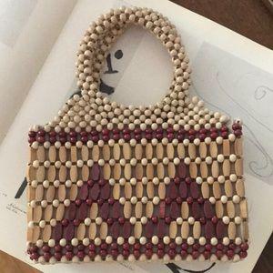 Handbags - Vintage Wood Bead Mini Bag